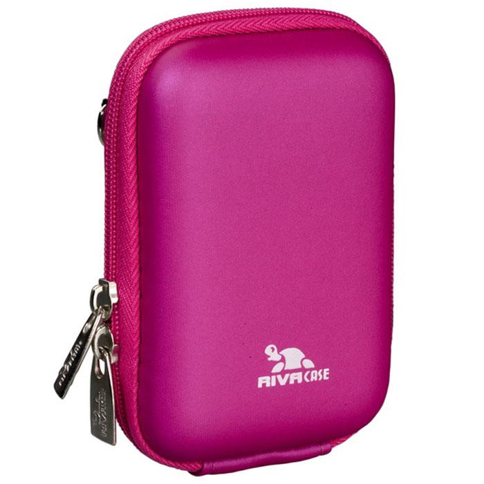 Riva 7022 (PU) Digital Case, Crimson Pink чехол для фотокамеры