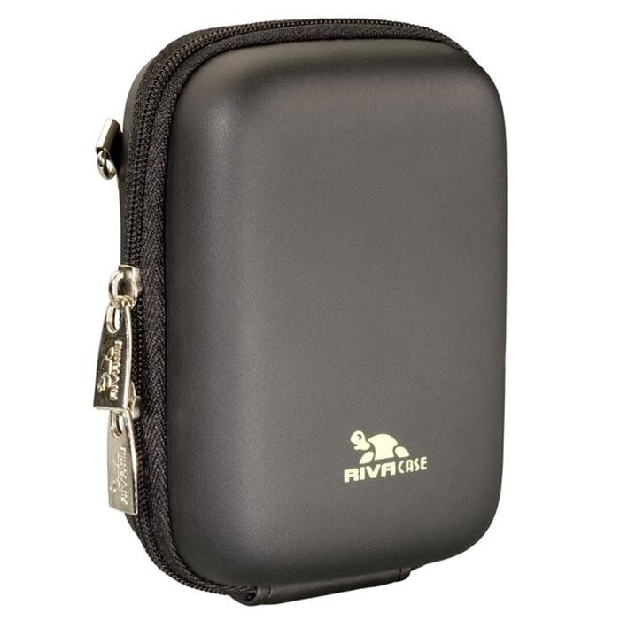Riva 7024 (PU) Digital Case, Black чехол чехол для фотокамеры2528Стильный чехол Riva 7024 (PU) Digital Case подходит для большинства популярных моделей компактных фотокамер. Изготовлен из высококачественного, ударопрочного, водонепроницаемого материала EVA. Внутренний карман для карт памяти, аксессуаров Внутренняя защита из плотного и мягкого нейлона Предусмотрена возможность крепления на поясном ремне