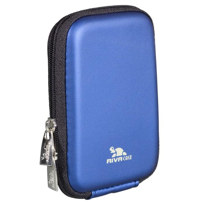 Riva 7062 (PU) Digital Case, Light Blue чехол для фотокамеры2594Стильный чехол Riva 7062 (PU) Digital Case подходит для большинства популярных моделей компактных фотокамер. Он изготовлен из высококачественного, ударопрочного, водонепроницаемого материала EVA, а внутренняя защита - из плотного и мягкого нейлона. Внутренний карман служит для хранения карт памяти или аксессуаров. Для удобства предусмотрена также возможность крепления на поясном ремне.