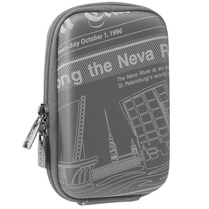 Riva 7103 (PU) Digital Case, Dark Grey (Travel) чехол для фотокамеры6357Стильный чехол Riva 7103 (PU) Digital Case подходит для большинства популярных моделей компактных фотокамер. Изготовлен из высококачественного, ударопрочного, водонепроницаемого материала EVA. Внутренняя защита из плотного и мягкого нейлона В комплекте карабин и ремень для ношения чехла на плече или на шее Предусмотрена возможность крепления на поясном ремне