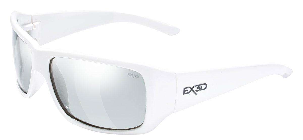 EX3D 5002/105 Ammo 3D поляризационные очкиEX3D5002/105Очки EX3D Аmmо сочетают в себе запатентованную M3D технологию линз и стильный, модный дизайн. Данные очки помогают оптимизировать 3D-просмотр одновременно предлагая защиту от UVA / UVB лучей. Эта 3D-модель внешне не отличается от стильных солнцезащитных очков. Изящно изогнутые фотохромные линзы очков прекрасно адаптируются к условиям освещенности и на 100 % защищают глаза от ультрофиолета, когда вы находитесь на улице. Инновация состоит в том, что эти же очки позволяют видеть трехмерное изображение в кинотеатре или на экране телевизора. Линзы, которые используются в EX3D Аmmо выпуклые, они качественно превосходят повсеместно используемые в кинотеатрах плоские. Зритель видит четкую объемную картинку без искажений и двоения с любого места в кинозале. Линзы имеют твердое защитное покрытие, предохраняющее от царапин.