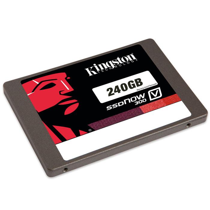 Kingston SSDNow V300 240GB (SV300S3N7A/240G)SV300S3N7A/240GПовысьте скорость работы Вашего компьютера и сэкономьте средства, заменив старый жесткий диск на твердотельный накопитель Kingston SSDNow V300. Это самое экономически эффективное решение для повышения производительности системы и более простой способ по сравнению с переносом всех данных на новую систему. SSDNow V300 имеет контроллер LSI SandForce, оптимизированный для флеш-памяти нового поколения, что обеспечивает высочайшее качество и надежность. Накопители состоят из твердотельных компонентов и не содержат движущихся деталей, поэтому они имеют повышенную ударопрочность и выдерживают падения и вибрации. Накопители SSDNow V300 просты в установке и поставляются в комплектах, содержащих все необходимые аксессуары, включая программное обеспечение для клонирования файлов и операционной системы за считанные минуты. Они имеют трехлетнюю гарантию, бесплатную техническую поддержку и отличаются легендарной надежностью Kingston. Интерфейс: SATA 3.0 (6 Гбит/с),...