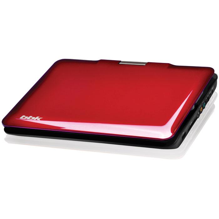 """BBK PL947TI, Dark Cherry портативный DVD-плеерPL947TI темная вишняПортативный DVD-плеер BBK PL947TI с поворотным LED-дисплеем диагональю 9"""" и ТВ-тюнером не позволят Вам скучать ни дома, ни в дороге, ни на отдыхе! Помимо самого DVD-проигрывателя устройство оснащено USB2.0-портом для подключения флэшки, mp3-плеера или цифровой фотокамеры и слотом для карт памяти MMC/SD. Поддерживаются самые популярные аудио и видео форматы."""