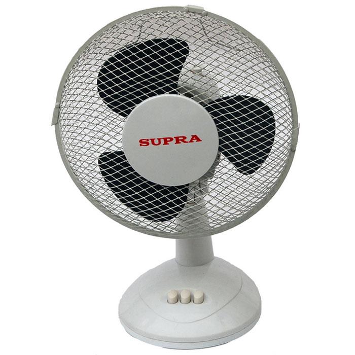 Supra VS-901, White Grey настольный вентилятор