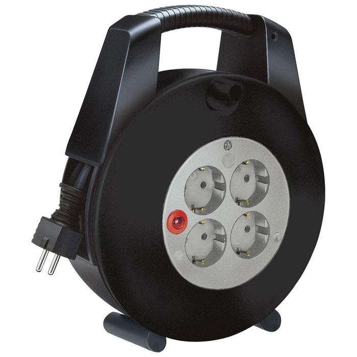 Brennenstuhl Vario Line (1 09320 0) удлинитель, 10 м1 09320 0Удлинитель на катушке Brennenstuhl Vario Line. Корпус удлинителя изготовлен из прочного пластика и имеет удобную ручку для переноски или подвешивания. Две ножки обеспечивают устойчивое положение удлинителя. Плавкий предохранитель Розетки с защитой от детей Тип кабеля: H05VV-F 3G1,0