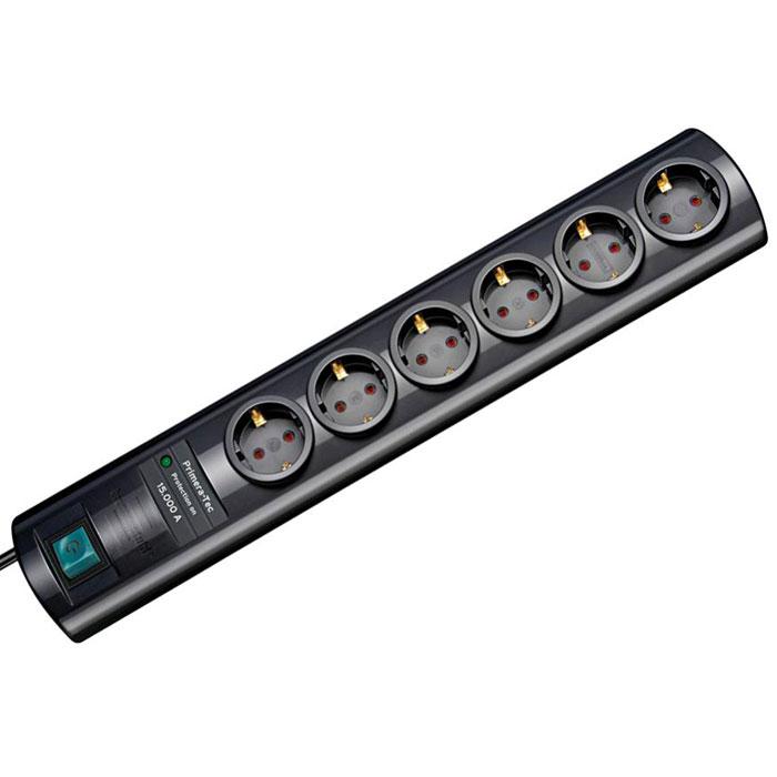 Brennenstuhl Primera-Tec Surge Protection сетевой фильтр, Black1153300406Сетевой фильтр на 6 розеток Brennenstuhl Primera-Tec Surge Protection для защиты оборудования от скачков напряжения. Полированный изящный корпус Возможность вывести кабель с обеих сторон Оптическая индикация статуса защиты от перегрузок Розетки с защитой от детей Отверстия для настенного монтажа Двухполюсный выключатель с подсветкой Тип кабеля: H05VV-F 3G1,5