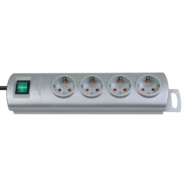 Brennenstuhl Primera-Line удлинитель на 4 розетки, Silver1153390124Удлинитель на 4 розетки Brennenstuhl Primera-Line с возможностью выводить кабель с разных сторон устройства. Кабельный зажим для хранения излишков кабеля Удобное расстояние между розетками Возможность настенного монтажа Розетки защищены от детей Двухполюсный выключатель Тип кабеля: H05VV-F 3G1,5