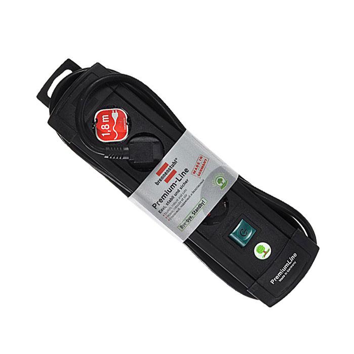 Brennenstuhl Premium-Line удлинитель на 4 розетки 1.8 м, Black1755110014Удлинитель на 4 розетки Brennenstuhl Premium-Line предназначен для подключения различных приборов и устройств к электросети. Надежные гнезда розеток сделаны из специального ударопрочного пластика. Все розетки заземлены и расположены под углом 45° Возможность намотки кабеля для хранения Розетки с защитой от детей Тип кабеля: H05VV-F 3G1,5