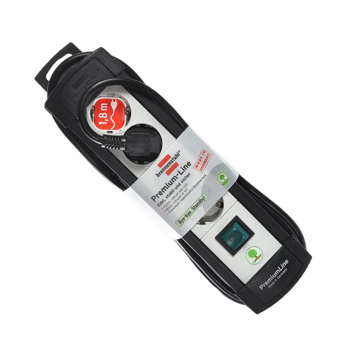 Brennenstuhl Premium-Line удлинитель на 4 розетки 1.8 м, Black Grey1755150014Удлинитель на 4 розетки Brennenstuhl Premium-Line предназначен для подключения различных приборов и устройств к электросети. Надежные гнезда розеток сделаны из специального ударопрочного пластика. Все розетки заземлены и расположены под углом 45° Возможность намотки кабеля для хранения Розетки с защитой от детей Тип кабеля: H05VV-F 3G1,5