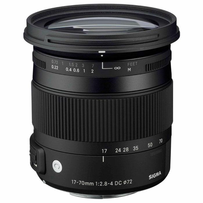 Sigma AF 17-70mm F2.8-4 DC MACRO OS HSM, Canon (Si884954)Si884954Обновленный зум-объектив Sigma AF 17-70mm F2.8-4 DC MACRO OS HSM для APS-C (кропнутых) камер. HSM-мотор: Ультразвуковой моторный привод объектива обеспечивает бесшумную и быструю фокусировку. Асферические линзы: Асферические линзы позволяют добиться высоких оптических характеристик при меньшем размере объектива. Также асферические линзы широко используются при создании длиннофокусных зум-объективов, которые сочетают высочайшие оптические характеристики с компактностью, небольшим весом и эргономичностью. Функция оптической стабилизации (Optical Stabilizer): Разработанный компанией SIGMA механизм оптической стабилизации (Optical Stabilizer) опирается на показания двух внутренних датчиков объектива, которые фиксируют перемещения корпуса камеры как в вертикальной, так и в горизонтальной плоскости. Подавление вибраций достигается благодаря перемещению специальной группы линз. Внутренняя фокусировка (IF): Компания SIGMA...