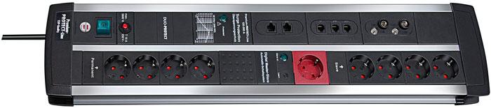 Brennenstuhl Premium-Protect-Line Automatic 120.000 А 9 розеток, 3 м