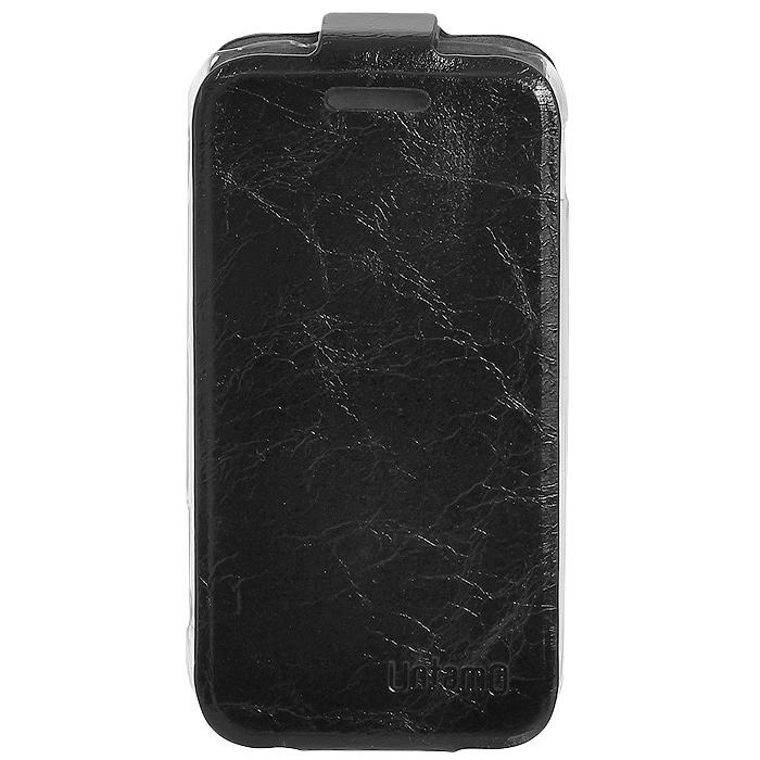 Untamo Timber чехол-флип для Samsung Galaxy Ace II, Black (UTIMFACE2BL)