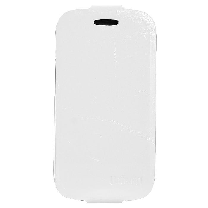 Untamo Timber чехол-флип для Samsung Galaxy S III mini, Ermin White (UTIMFS3MINIEWH)UTIMFS3MINIEWHЧехол Untamo Timber для Samsung Galaxy S III mini сшит вручную из натуральной кожи премиум-класса, и это видно сразу: бережно сохраненная текстура элитной кожи придает аксессуару изысканную элегантность. Легкий и одновременно прочный, чехол защитит устройство от повреждений и пыли, подчеркнет индивидуальность владельца и доставит истинное удовольствие от использования.