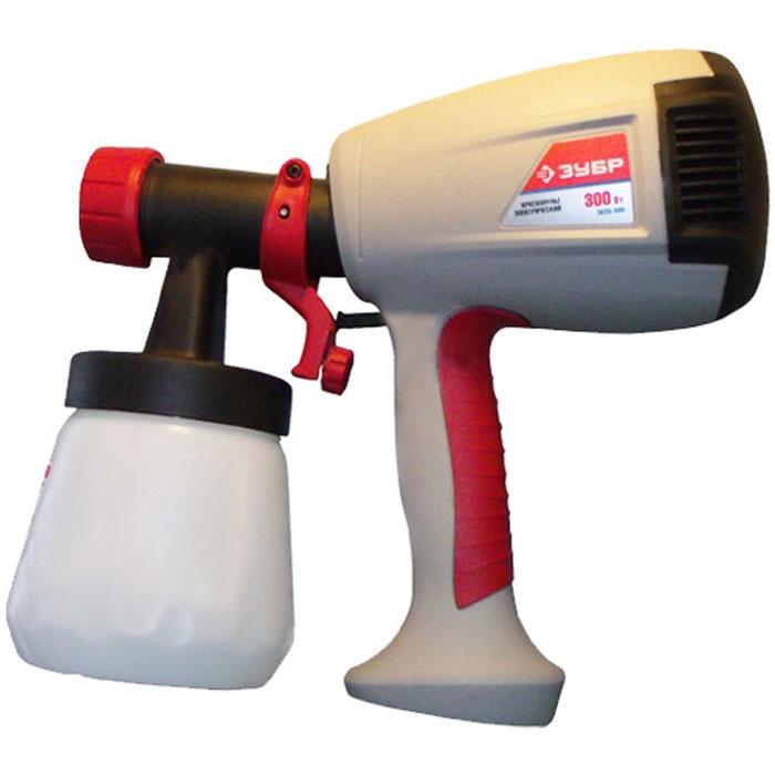 ЗУБР ЗКПЭ-300 электрический краскопульт, вязкость краски 40 DIN, HVLP, 0,8 л, 300Вт ( ЗКПЭ-300 )