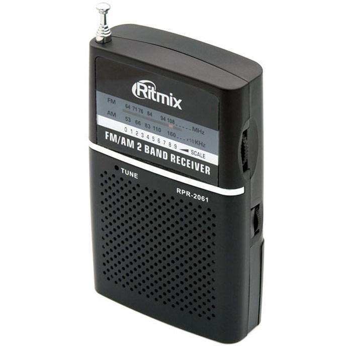 Ritmix RPR-2061, Black �������������RITMIX RPR-2061Ritmix RPR-2061 � ��������� ������������� � ������� ��� ������� �� ������. ���������� �������� �� �������� AM � FM ������������ ���������. RPR-2061 ������� ������� �� �������� � ����������� ������ �������.