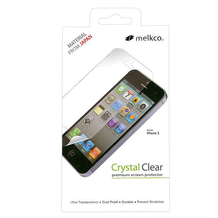 Melkco защитная пленка для iPhone 5, глянцеваяAPIPO5SPCC1Защитная пленка для Apple iPhone 5 позволит уберечь любимый гаджет от появления царапин, отпечатков пальцев, сколов, пыли и влаги.