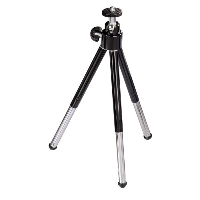 Hama Ball L, Black Silver штатив (H-04064)H-04064С помощью настольного штатива Hama Ball L H-04064 Вы сможете получить отличные снимки достойного уровня, способные конкурировать с профессиональными. Этот штатив прекрасная возможность для качественной фиксации фото или видеокамеры на поверхности, а также для удобства и съемки с таймером. Конструкция штатива позволит надежно установить его на любой поверхности, несмотря на возможные неровности.