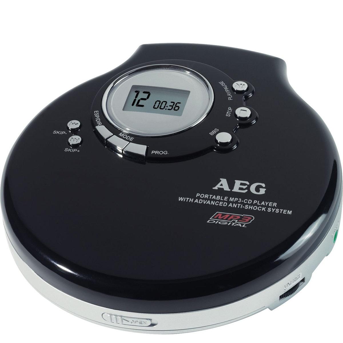 AEG CDP 4212, Black CD-MP3 плеерCDP 4212 schwarzСовместим с CD-R, CD-RW, MP3 Возможность программирования 64 треков МР3 Возможность программирования до 20 треков для аудио CD Антишок / стабилизатор кручения диска для МР3 воспроизведения до 120 секунд и 40 секунд для аудио CD Элементы питания: 2 х АА Гнездо для подключения к сети 4,5 В