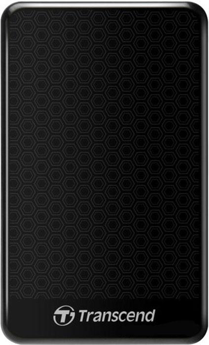 Transcend StoreJet 25A3 500GB, Black внешний жесткий диск (TS500GSJ25A3K)TS500GSJ25A3KПортативный внешний жесткий диск Transcend StoreJet 25A3, отличающийся повышенной устойчивостью к неблагоприятным воздействиям ударов, вибрации, пыли, влаги, жары и холода. Совместимость с суперскоростным USB 3.0, а также с USB 2.0 с обратной стороны Прочная, удароустойчивая конструкция Усовершенствованная система внутренней подвески для защиты жесткого диска Поддержка стандарта Plug&Play Питание от USB, нет необходимости во внешнем адаптере Энергосберегающий спящий режим Комплектуется ПО Transcend Elite для защиты LED индикатор статуса передачи данных Кнопка автоматического резервного копирования в одно нажатие