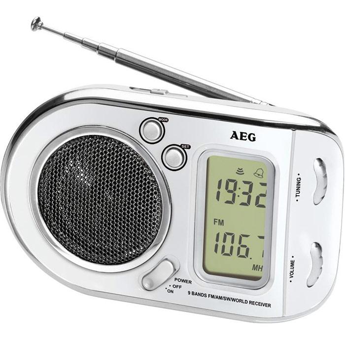 AEG WE 4125, White радиоприемникAEG WE 4125 weissРадиоприемник AEG WE 4125 с будильником идеально подходит для путешествий. ЖК-дисплей Телескопическая антенна Цифровая индикация частоты Высококачественный динамик Многочастотный радиоприемник с 9 диапазонами частоты (1 х URW, 1 x MW, 7 x KW)