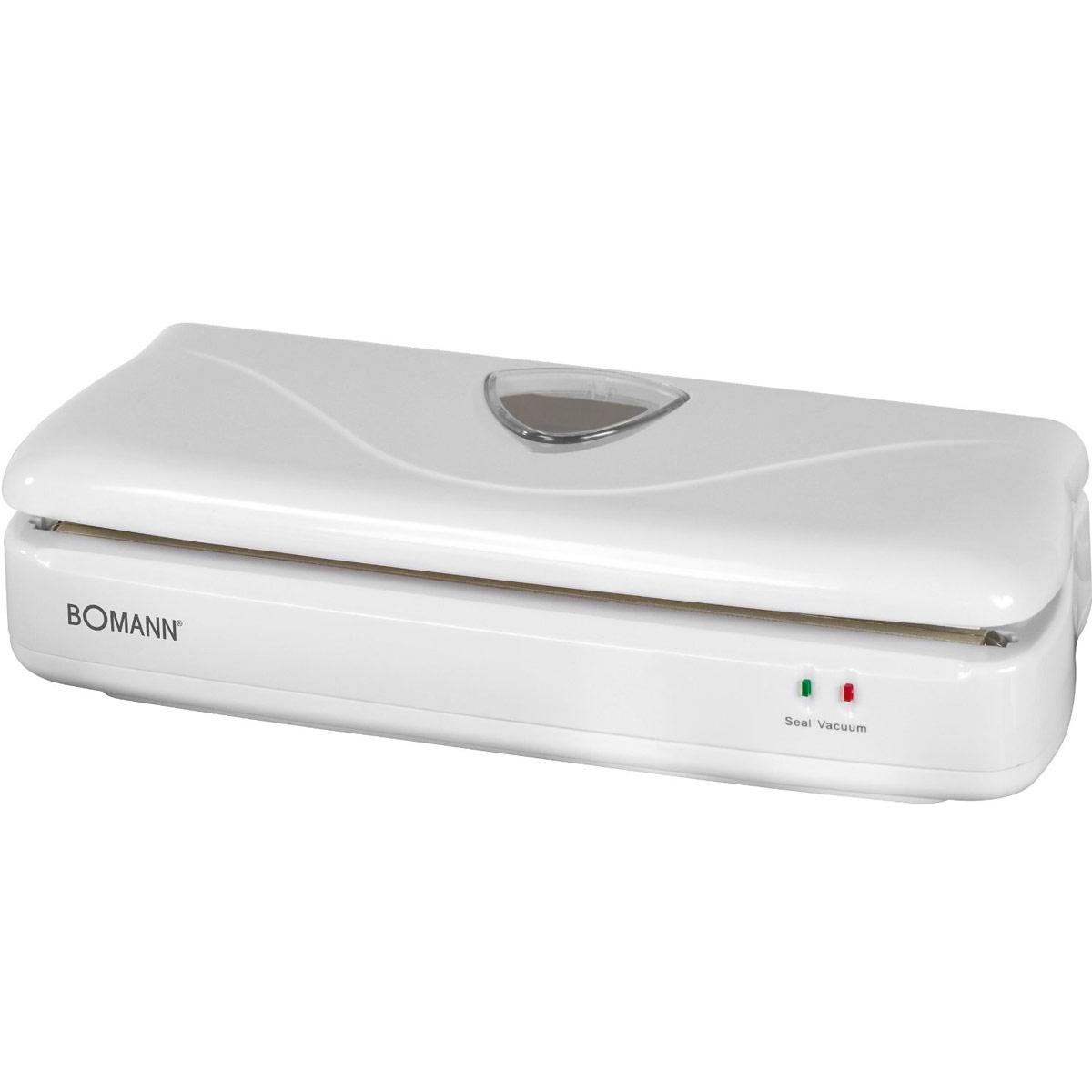 Bomann FS 1014 CB, White вакуумный упаковщикFS 1014 CB weisВакуумный упаковщик Bomann FS 1014 CB идеально подходит для разделения продуктов на порции. 2 световых индикатора Мощный вакуумный насос Напряжение: 230 В В комплекте: пленка (3 м)
