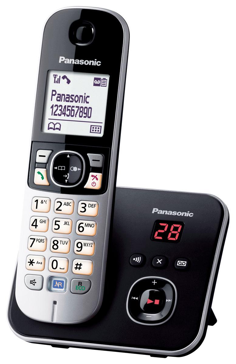 Panasonic KX-TG6821 RUB DECT телефонKX-TG6821RUBКомпактный и удобный радиотелефон Panasonic KX-TG6821RUM сделает разговоры дома и в офисе комфортными и удобными. Качество связи остается превосходным на расстоянии 50 метров от базы в квартире и 300 метров на открытом пространстве. Модель оснащена опцией ID Caller, автоматически определяющей номера входящих вызовов. Система быстрого набора позволяет быстро выбрать нужный контакт, сохраненный в памяти телефона или записной книжке. Panasonic KX-TG6821RUM имеет функцию автоответчика с возможностью записи до 30 минут. Специальная кнопка на базе позволяет отыскать потерянную трубку. Помимо стандартных функций, аппарат обладает системой Радионяня, фиксирующей звуки в детской комнате, а также ночным режимом, которые не позволит звонку побеспокоить хозяина в момент сна. блокировка клавиатуры русифицированное меню часы, дата на дисплее будильник с повторным сигналом и установкой по дням недели повторный набор