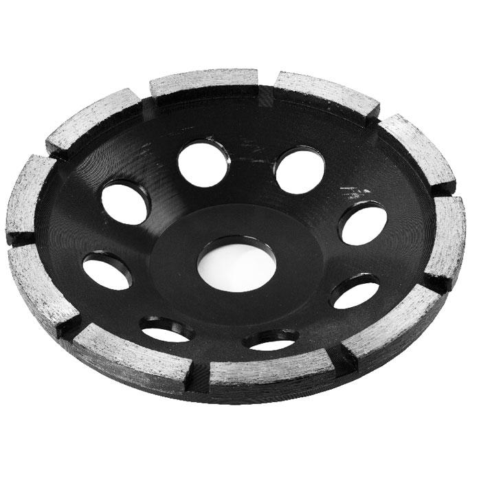 ЗУБР Эксперт чашка алмазная сегментная однорядная, высота 22,2 мм, 125 мм33373-125Чашка ЗУБР серии ЭКСПЕРТ применяется для эффективного и быстрого шлифования поверхностей особо твердых материалов, таких как бетон, искусственный и натуральный камень, гранит и др. Диаметр хвостовика: 3.2 мм Рабочий диаметр: 13 мм Максимальная скорость: 15 000 об/мин