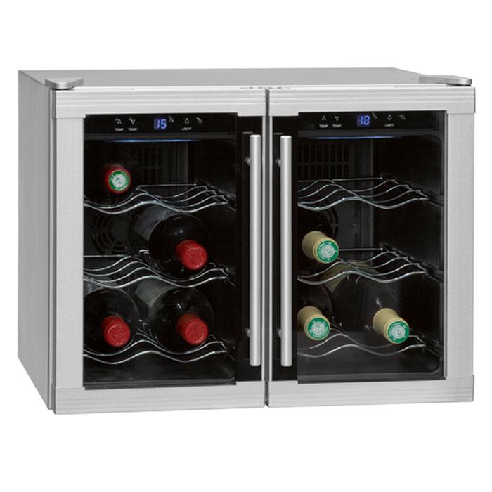 Bomann KSW 192 12Fl /32 L винный холодильникKSW 192 12FlВинный шкаф Bomann KSW 192 12Fl /32 L имеет антибактериальное покрытие, рассчитан на 12 бутылок. Поддерживает оптимальную температуру для сохраниния лучших качеств вина.
