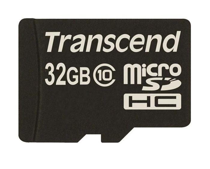 Transcend microSDHC Class 10 32GB карта памяти (TS32GUSDC10)TS32GUSDC10Карта памяти Transcend microSDHC Class 10 обладает отличными рабочими характеристиками при размере всего лишь 1/10 от размера SD карты. Продукт отличает необычайная скорость класса 10, представленная Ассоциацией SD карт в качестве новых характеристик SD 3.0, скорость записи 10 MБ/сек. гарантирована. Карта памяти microSDHC класса 10 с высокими скоростными характеристиками, большим размером памяти до 32 ГБ при минимальном размере особенно рекомендована для использования в современных мобильных устройствах. Все microSDHC карты прошли строгие тестирования на совместимость и надежность, и имеют ограниченную гарантию от компании Transcend. Каждая карта снабжена встроенным ECC (корректирующим кодом), который отвечает за автоматические обнаружение и устранение ошибок в процессе передачи данных. Внимание: перед оформлением заказа убедитесь в поддержке вашим электронным устройством карт памяти данного объема.