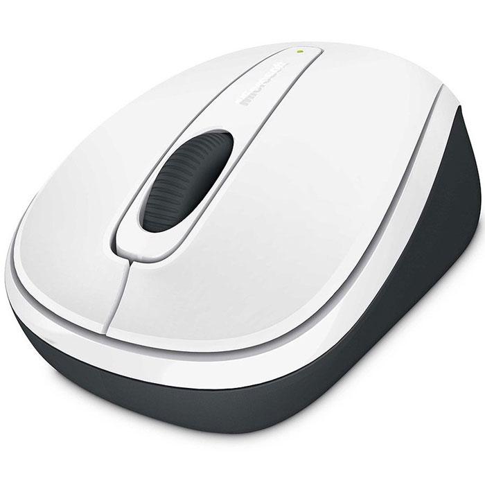 Microsoft Wireless Mobile Mouse 3500, White беспроводная оптическая мышь (GMF-00294)