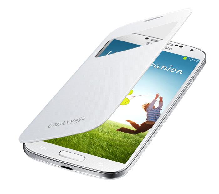 Samsung EF-CI950 чехол для i9500 Galaxy S4, WhiteEF-CI950BWEGRUИнновационный и стильный чехол Samsung EF-CI950 со специальным окошком для Samsung GALAXY S4 позволит определить состояние смартфона, не открывая при этом сам чехол: ответить на входящие вызовы, просмотреть все уведомления о пропущенных событиях и многое другое.