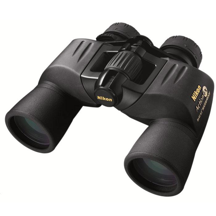 """Nikon Action VII EX 8x40 WP бинокльBAA661AAПриобретая бинокль Nikon Action 8x40 EX WP, Вы становитесь обладателем высококачественного оптического наблюдательного прибора, прекрасно защищённого от воды и влаги и обеспечивающего яркое и чистое изображение даже в сумерках. Область применения - охота и туризм, наблюдения на воде и в горах, спортивные мероприятия, изучение перелётных птиц. Станьте участником незабываемых событий и чудесных открытий вместе с Nikon! Основные характеристики бинокля Nikon Action 8x40 EX WP Увеличение - 8х, светосильные объективы, широкий угол поля зрения, большой вынос выходного зрачка (17,2 мм) Призмы Porro, многослойное просветляющее покрытие линз, эко-стекло Водонепроницаемый (возможно погружение на глубину до 1 м, в течение 5 мин), газонаполнение - азот Обрезиненный корпус, поворотно-выдвижные наглазники Устанавливается на штатив (1/4"""") с помощью адаптера Поставляется в комплекте с..."""