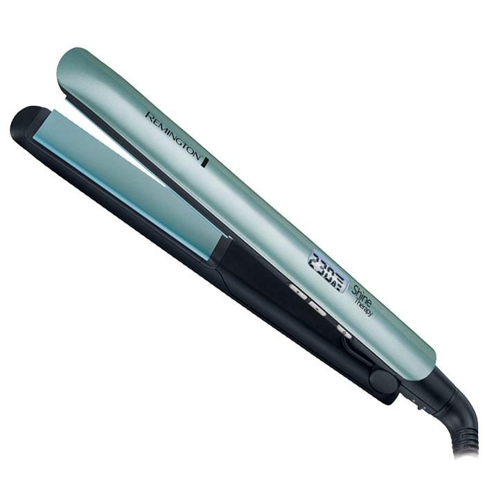 Remington S8500 выпрямитель для волосS8500Выпрямитель Remington S8500 позволяет выпрямлять волосы, практически не причиняя им вред, и придает им более здоровый вид. Выпрямитель оснащен высококачественными пластинами с усовершенствованным керамическим покрытием, которое равномерно нагревается и идеально скользит по волосам. При нагреве пластин на волосы распыляются кондиционирующие микрочастицы, содержащие смесь из марокканского арганового масла и витамина Е. Это не только защищает локоны от температурного перегрева, что может стать причиной их ломкости, но и придает волосам естественный блеск и ослепительное сияние.