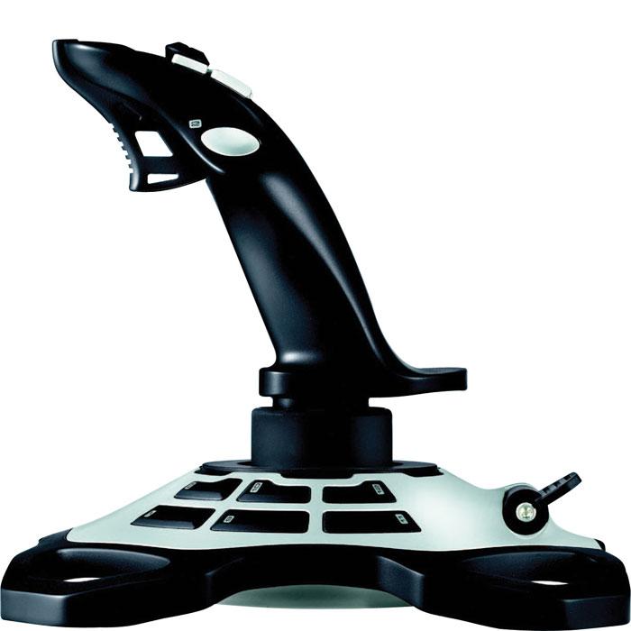 Logitech Extreme 3D Pro Joystick джойстик (942-000031)942-000031Джойстик Logitech Extreme 3D Pro Joystick. Главное — удобство для рук: Исследования показали, что при сложных полетах важнее всего интуиция и время реакции. Чтобы помочь пилотам, специалисты из нашей лаборатории разработали специальную поворотную рукоятку для джойстика Extreme 3D Pro, которая позволяет обеспечить непринужденное управление одной рукой при компактных размерах устройства. Настройте свой боевой комплекс: С джойстиком Extreme 3D Pro все команды будут у вас под рукой и именно там, где Вы хотите, чтобы Вы могли не отрывать глаз от линии горизонта. Каждую программируемую кнопку можно настроить для выполнения простых одиночных команд или сложных макросов с функцией нескольких нажатий клавиш, событий мыши и других элементов. Включите большой палец в работу: Быстро и легко переключайтесь с обзора места боя на оружие и другие элементы. 8-позиционный переключатель предназначен для точного распознавания специальных команд,...
