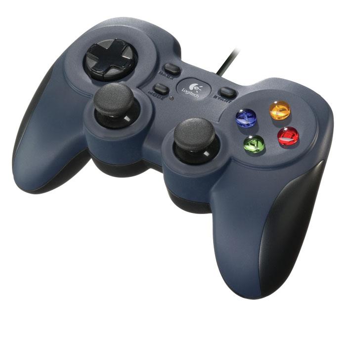 Logitech F310 Gamepad геймпад (940-000135)940-000135Играйте на телевизоре: Подключившись к системе Big Picture, можно получать доступ к Steam, просматривать веб-страницы, играть и делать многое другое, не вставая с дивана. Перенесите всю свою библиотеку игр Steam в гостиную, возьмите геймпад F310, откиньтесь на спинку дивана и получайте удовольствие! Возьмите и играйте: Благодаря привычному расположению кнопок ваша интуиция подскажет вам нужные действия. Вы сможете мгновенно начать играть. Геймпад F310 создан для того, чтобы обеспечить управление, как на консоли. Он обладает традиционной конструкцией с инновационными улучшениями и буквально становится продолжением ваших рук. Эксклюзивный D-манипулятор с 4 переключателями: Стандартные D-манипуляторы имеют одну точку наклона, из-за чего управление может быть недостаточно точным. Этот D-манипулятор плавно скользит над четырьмя отдельными переключателями и создает ощущение быстрого отклика и высокой чувствительности. Хорошая...
