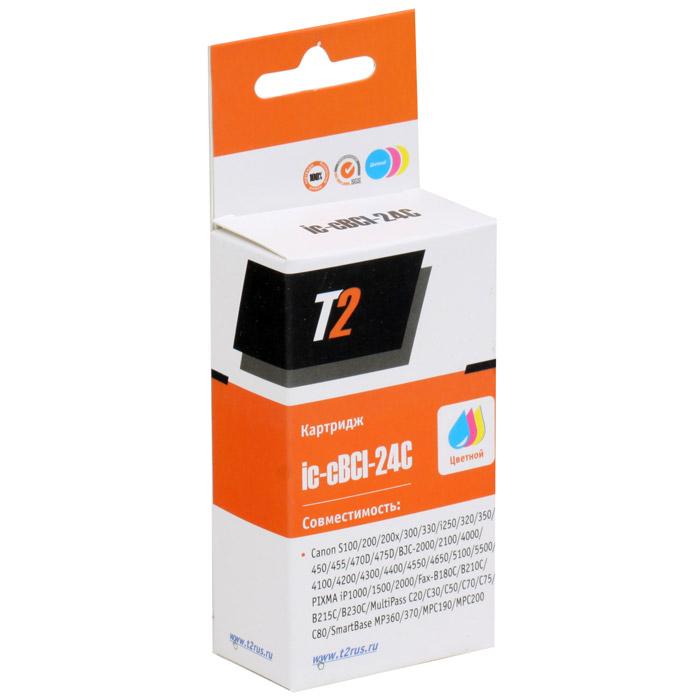 T2 IC-CBCI-24C картридж для Canon S100/300/i250/BJC-2100/4200/5500/PIXMA iP1500/2000IC-CBCI-24CКартридж T2 C-CBCI-24C с цветными чернилами для принтеров и МФУ Canon. Картридж собран из японских комплектующих и протестирован по стандарту STMC.