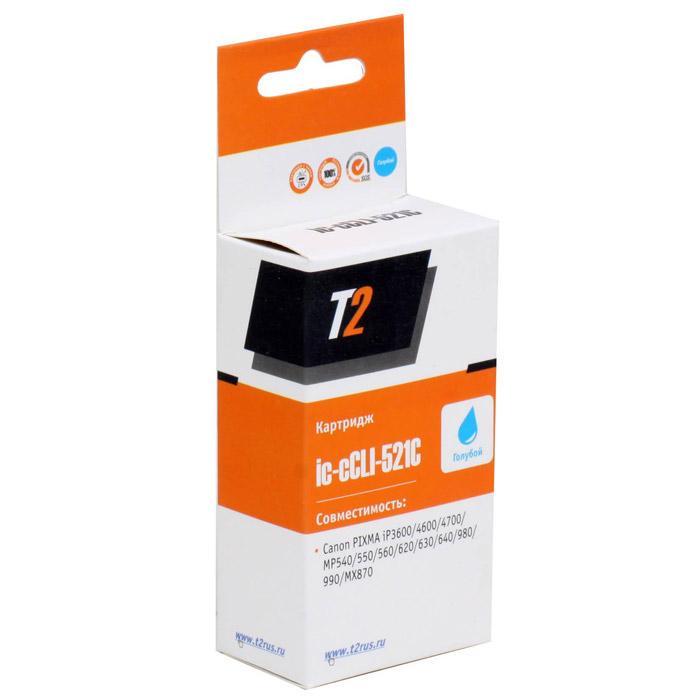 T2 IC-CCLI-521C картридж для Canon PIXMA iP3600/4600/4700/MP540/620/630/980, Cyan ( IC-CCLI-521C )