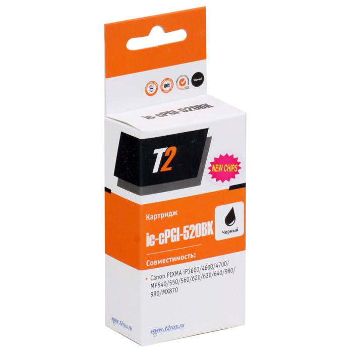 T2 IC-CPGI-520BK картридж для Canon PIXMA iP3600/4600/4700/MP540/620/980, Black ( IC-CPGI-520BK )