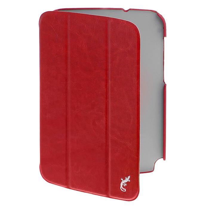 G-case Slim Premium чехол для Samsung Galaxy Note 8.0 (N5100/N5110), RedGG-61G-case Slim Premium чехол для Samsung Galaxy Note 8.0 обеспечивает надежную защиту от повреждений при использовании и транспортировке планшета, его можно трансформировать в удобную подставку для чтения. В данном чехле все разъемы остаются открытыми, не затрудняя управление планшетом.