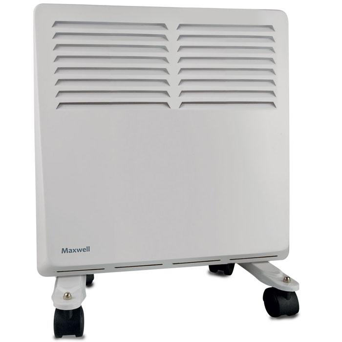 Maxwell MW-3472(W) радиаторMW-3472(W)Конвектор Maxwell MW-3472(W) способен обогревать помещения площадью до 15 квадратных метров, имеет 3 степени регулировки мощности. Для большей мобильности оснащён колесиками.