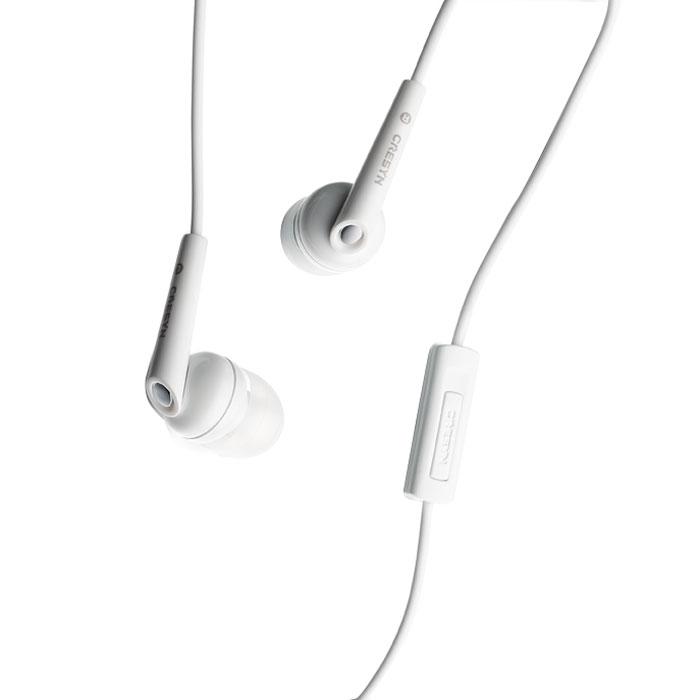 Cresyn C262S, White наушники с микрофономCPU-ES0262WL01Гарнитура Cresyn C262S объеденяет в себе мощные наушники и качественный микрофон. Гарнитура совместима с iPhone и имеет съёмные амбушюры.