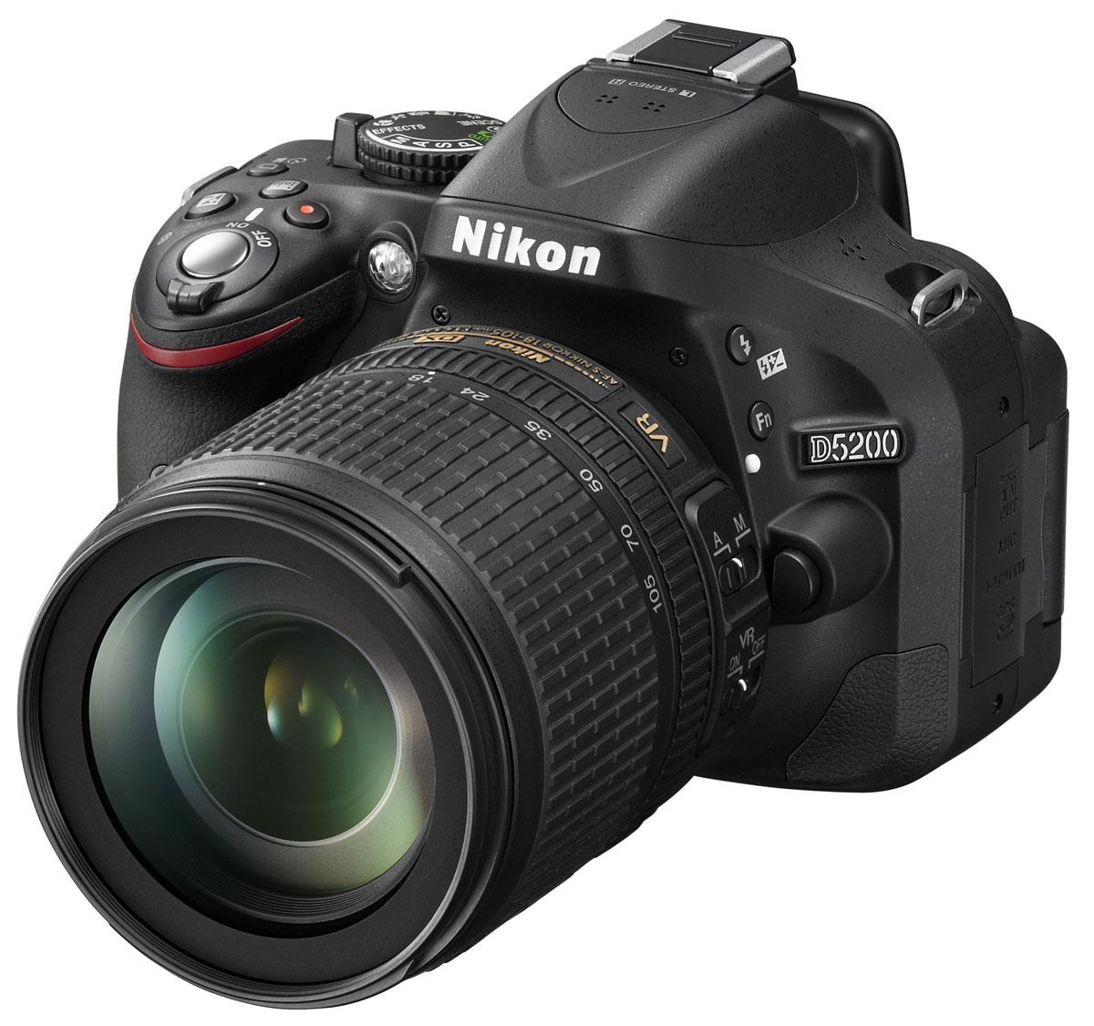 Nikon D5200 Kit 18-105 VR, Black цифровая фотокамера ( VBA350K005 )