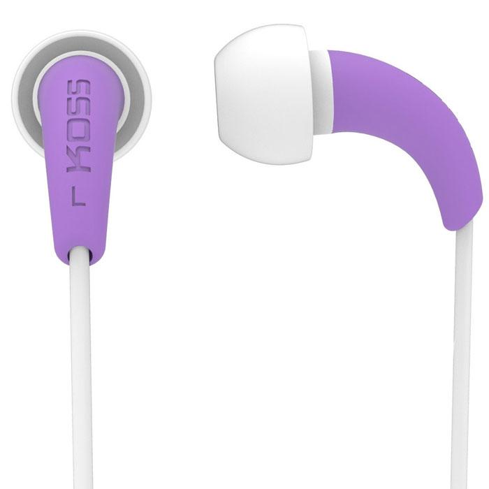Koss KEB32, Purple наушники15116460KOSS KEB32 – спортивные наушники ярких, сочных цветов, разработанные при сотрудничестве с легендарной Олимпийской чемпионкой Дарой Торрес. Наушники изготовлены из моющегося материала, а прочный материал кабеля гарантирует износостойкость. Благодаря этому модель идеально подходит для занятий спортом. Koss KEB32 ориентированы на женскую аудиторию.