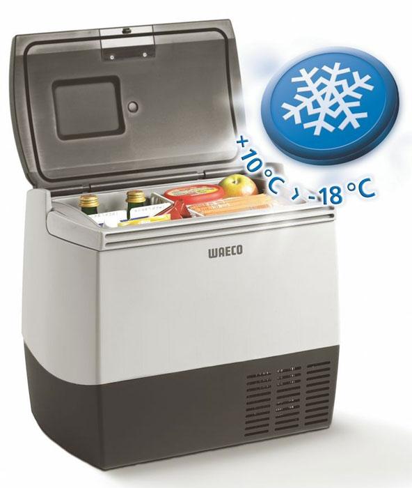 WAECO CoolFreeze CDF-18 автохолодильник 18 лCDF-018DCМобильный компрессорный холодильник для охлаждения и замораживания WAECO CoolFreeze CDF-18. Легкие портативные холодильники серии WAECO CoolFreeze CDF по простоте в эксплуатации не уступают термоэлектрическим холодильникам. Они очень мобильны благодаря плечевому ремню и ручкам для переноски. Очень узкие и компактные холодильники, представляет собой превосходное «нишевое» решение. Стандартное и глубокое охлаждение до -18 °C при минимальном электропотреблении, вне зависимости от температуры окружающей среды. С высокой производительностью и надежным качеством эта модель обеспечивает стандартное охлаждение и глубокую заморозку.