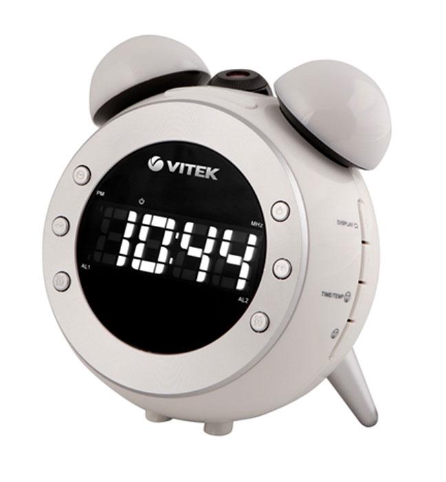 Vitek VT-3525, White радиочасы