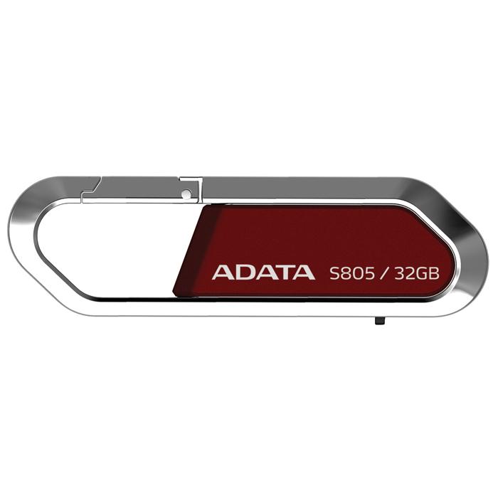 ADATA S805 Sports 32GB, Red флэш-накопительAS805-32G-RRDФлеш-накопитель USB ADATA S805 Sports с карабином для цепочки. Созданный по модели карабина, USB флэш-накопитель ADATA S805 гармонично объединяет в себе тонкую работу и стиль. Рамка корпуса USB-накопителя ADATA S805 Sports выполнена из цинкового сплава с отделкой серого или красного цвета, что делает его прекрасным аксессуаром, который можно брать с собой, куда бы вы ни поехали. С емкостью памяти до 32 ГБ вы можете легко переносить и обмениваться большими видео/аудиофайлами. Портативность, мощность и спортивный стиль накопителя S805 делают его идеальным выбором для соответствия вашим запросам по мобильному хранению данных. Облаченная в серебристый серый или страстный красный цвет, гладкая модель ADATA S805 Sports USB выглядит великолепно на ключах, портфеле, рюкзаке или на сумке для ноутбука. Умный выдвижной дизайн конструкции S805 также исключает необходимость использования колпачка и его возможную потерю, тем самым делая его просто незаменимым элементом вашего...