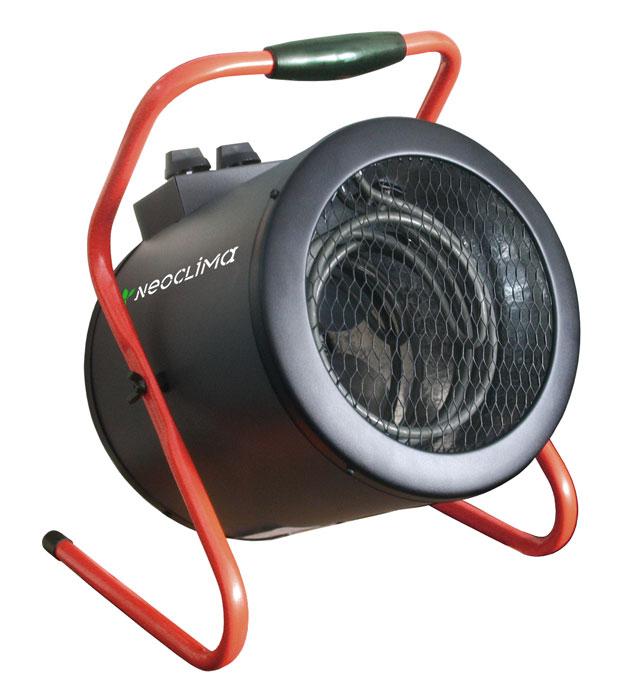 Neoclima ТПК-3 тепловая пушкаТПК-3Электрическая тепловая пушка Neoclima ТПК-3 - мощный профессиональный тепловентилятор предназначенный для быстрого и интесивного нагрева воздуха в помещениях. Основная область применения - обогрев неотапливаемых помещений и помещений с недостаточной мощностью отопления, резкое повышение температуры в помещении, что требуется например при монтаже натяжных потолков, штукатурных и пр. строительных работах. Из преимуществ тепловой пушки Neoclima стоит выделить направленный поток горячего воздуха и изменяемый угол наклона корпуса, ТЭН из углеродистой стали с ресурсом более 25 тыс. часов, ступенчатое переключение мощности и электродвигатель имеющий ресурс не менее 40 тыс. часов.