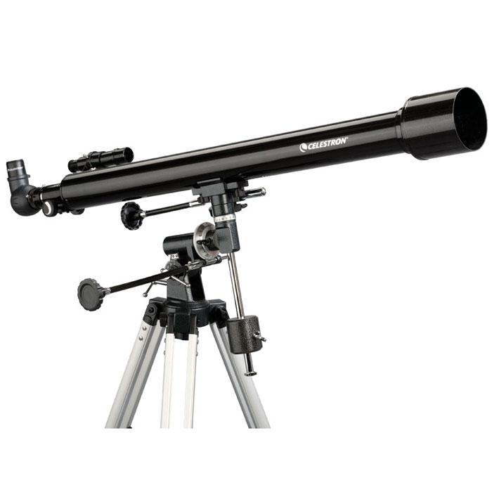 Celestron PowerSeeker 60 EQ телескоп-рефракторC21043Телескоп Celestron PowerSeeker 60 EQ обладает необходимым для начинающего наблюдателя набором базовых функций и предлагается по минимальной цене. Теперь, с помощью телескопа серии PowerSeeker Вы сможете познакомить своего ребенка со звездным небом, не тратя на оборудование астрономические суммы. Во всех инструментах серии используются только стеклянные объективы, имеющие большое преимущество перед пластиковыми линзами, используемыми в телескопах начального уровня некоторых других производителей. Для улучшения пропускания света на оптические элементы нанесено эффективное просветляющее покрытие.