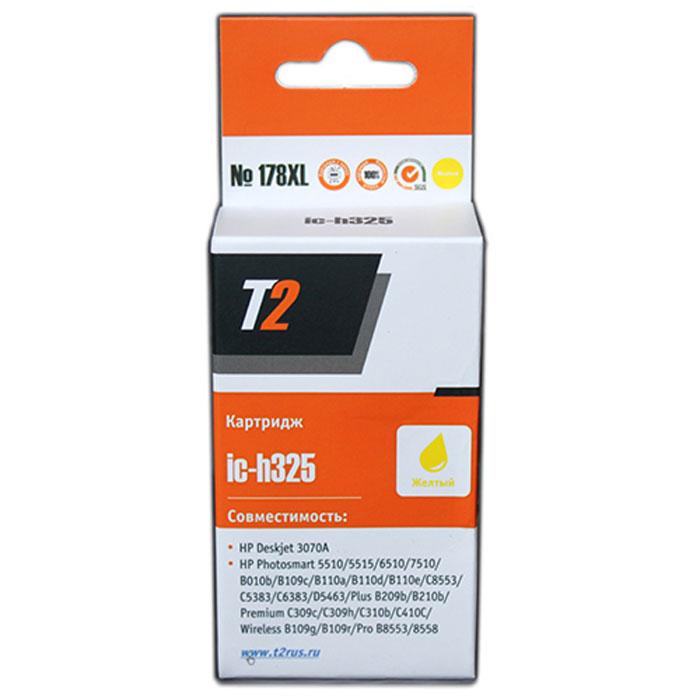 T2 IC-H325 картридж с чипом для HP Deskjet 3070A/Photosmart 6510/7510/B110/C8583 (№178XL), Yellow