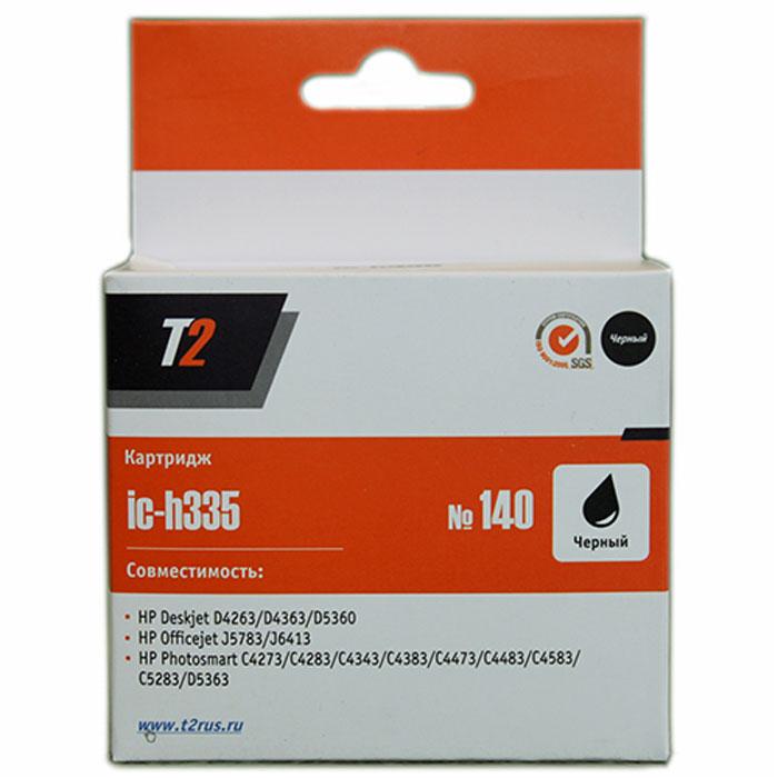 T2 IC-H335 картридж для HP Deskjet D4263/D5360/Officejet J5783/J6413/Photosmart C4273 (№140), Black